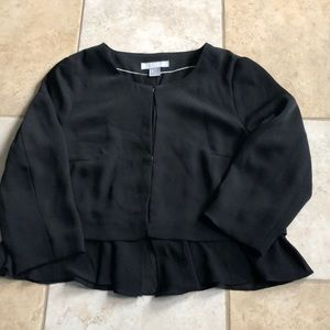 H&M BLACK blazer with a layered effect.